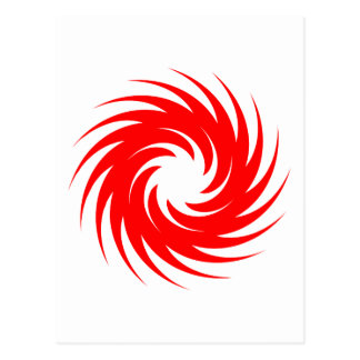 Red Spiral Postcard