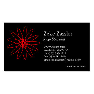 Red Spirograph Business Card