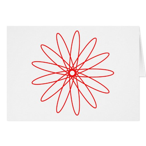 Red Spirograph Card