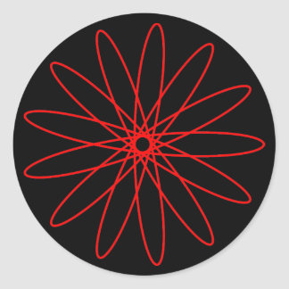 Red Spirograph Stickers