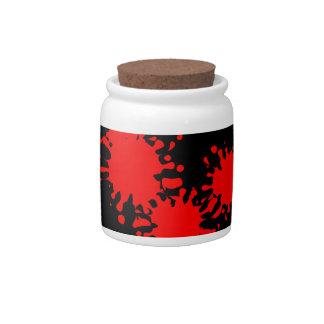 Red Splash Candy Jars