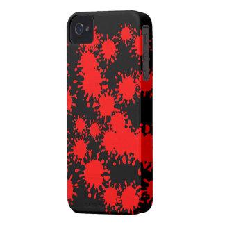 Red Splash Paint Blackberry Bold Case