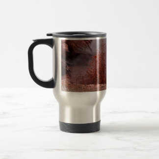 RED SPLASHES OF BOILING WATER AND MUD TRAVEL MUG
