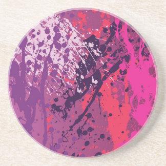 Red Splatter Drink Coaster