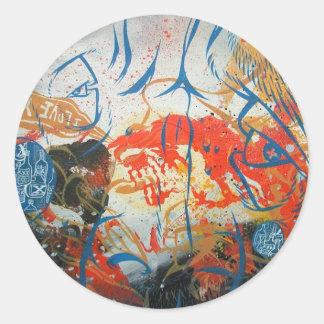 Red Splatter - Love Classic Round Sticker