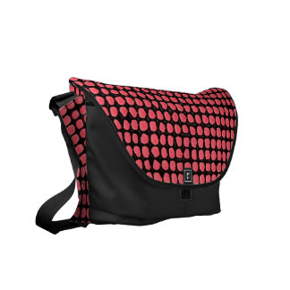 Red Splotch Messenger Bag