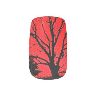 RED SPOOKY TREE MINX® NAIL WRAPS