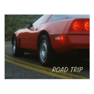 Red sport car - Corvetta Postcard