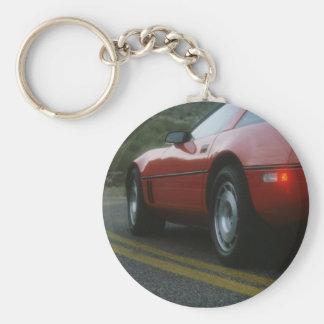 Red sport car keychain