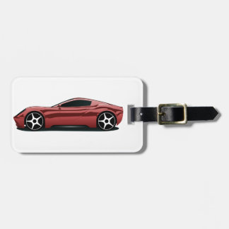Red sport car bag tags