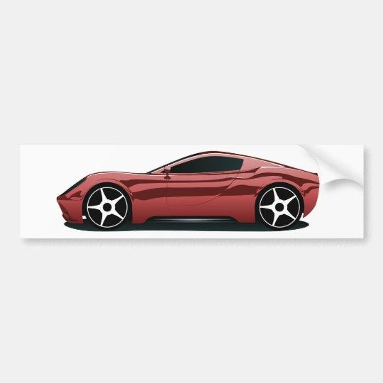 Red sport car png bumper sticker
