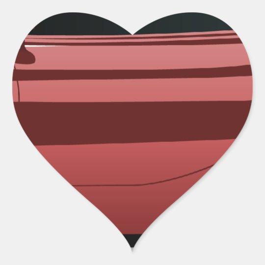 Red sport car png heart sticker