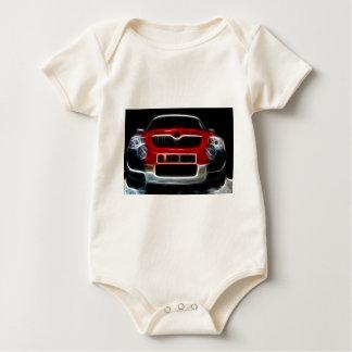 Red Sports Car Baby Bodysuit