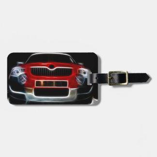 Red Sports Car Bag Tag