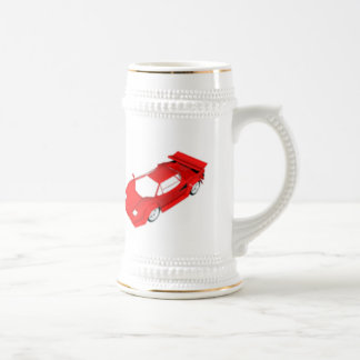 Red Sports Car Beer Stein