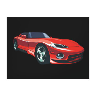 Red Sports Car Canvas Print