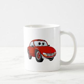 Red Sports Car Cartoon Coffee Mug