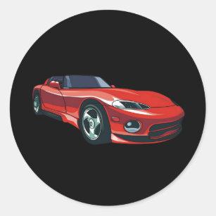 Red Sports Car Stickers Sticker Designs Zazzle