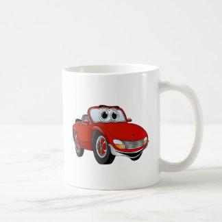 Red Sports Car Convertible Cartoon Coffee Mug