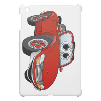Red Sports Car Convertible Cartoon Cover For The iPad Mini