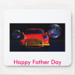 red sports car, Happy Father Day Mousepads