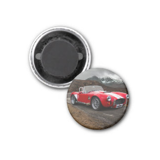 Red Sports Car Magnet