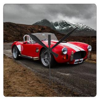 Red Sports Car Wall Clock