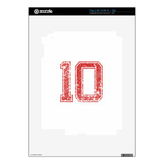 Red Sports Jerzee Number 10 Skins For The iPad 2