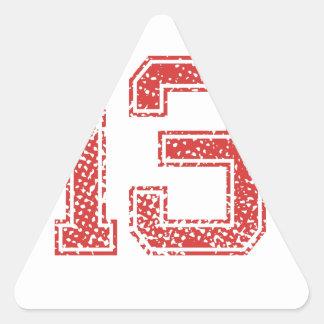 Red Sports Jerzee Number 13 Sticker