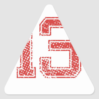 Red Sports Jerzee Number 13 Triangle Sticker