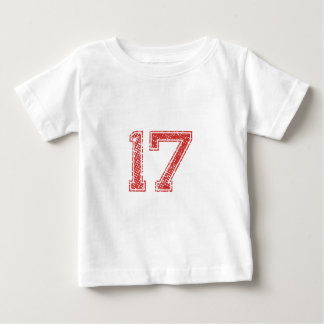 Red Sports Jerzee Number 17 Baby T-Shirt