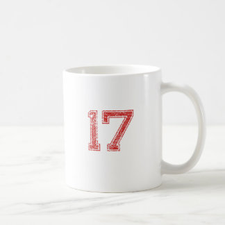 Red Sports Jerzee Number 17 Coffee Mug
