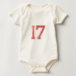 Red Sports Jerzee Number 17 Romper