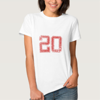 Red Sports Jerzee Number 20 T Shirt
