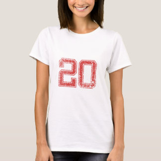 Red Sports Jerzee Number 20 T-Shirt