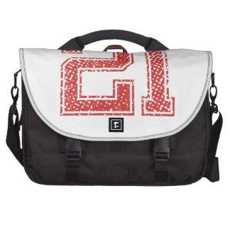Red Sports Jerzee Number 21 Laptop Messenger Bag