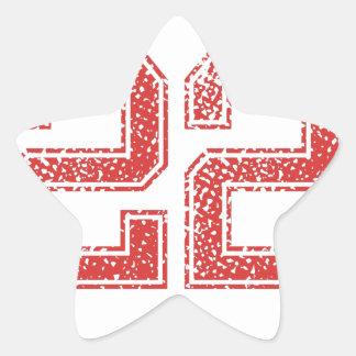Red Sports Jerzee Number 22 Star Sticker
