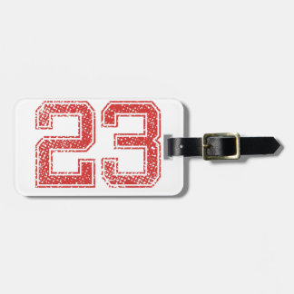 Red Sports Jerzee Number 23 Bag Tag