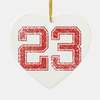 Red Sports Jerzee Number 23 Ceramic Ornament