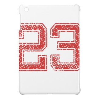 Red Sports Jerzee Number 23 iPad Mini Covers