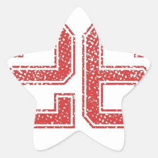 Red Sports Jerzee Number 26 Star Sticker