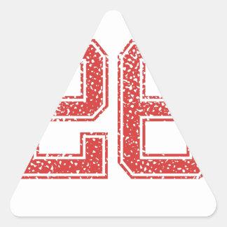 Red Sports Jerzee Number 26 Triangle Sticker
