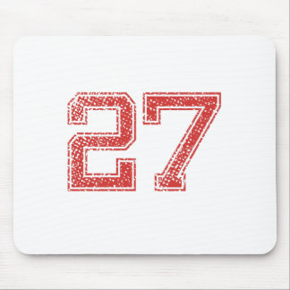 Red Sports Jerzee Number 27 Mouse Pad