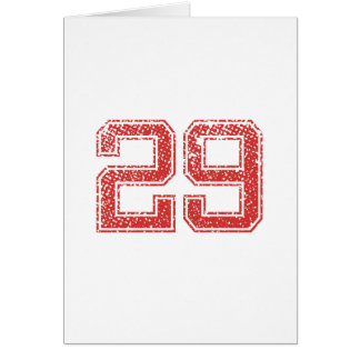 Red Sports Jerzee Number 29 Card