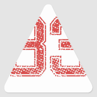 Red Sports Jerzee Number 33 Triangle Stickers