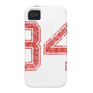 Red Sports Jerzee Number 34 iPhone 4 Covers