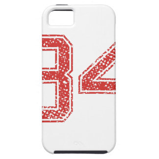 Red Sports Jerzee Number 34 iPhone 5 Case