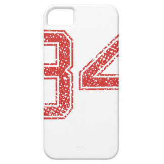 Red Sports Jerzee Number 34 iPhone 5 Cases