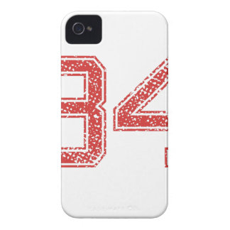 Red Sports Jerzee Number 34 Case-Mate iPhone 4 Case