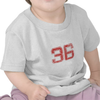 Red Sports Jerzee Number 36 Tshirt